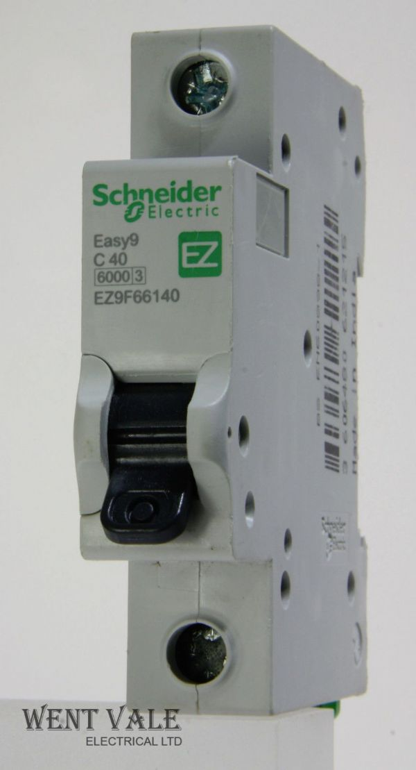 Schneider Easy 9 - EZ9F66140 - 40a Type C Single Pole MCB Used